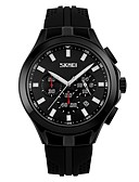 ราคาถูก นาฬิกากีฬา-SKMEI สำหรับผู้ชาย สำหรับคู่รัก นาฬิกาข้อมือ นาฬิกาดิจิตอล ดิจิตอล ยางทำจากซิลิคอน ดำ 30 m กันน้ำ ปฏิทิน นาฬิกาจับเวลา อะนาล็อก-ดิจิตอล ไม่เป็นทางการ แฟชั่น - สีเหลือง แดง ฟ้า / noctilucent