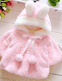 お買い得  赤ちゃん セーター&カーディガン-幼児 女の子 ストリートファッション ソリッド 長袖 コットン ジャケット&コート ピンク