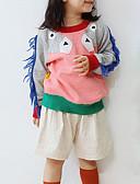 お買い得  赤ちゃん セーター&カーディガン-幼児 女の子 活発的 プリント 長袖 コットン セーター&カーデガン グレー
