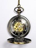 ราคาถูก นาฬิกาสำหรับผู้ชาย-สำหรับผู้ชาย นาฬิกาเห็นกลไกจักรกล นาฬิกาแบบพกพา ไขลานอัตโนมัติ ทอง แกะสลักกลวง นาฬิกาใส่ลำลอง หัวกระโหลก ระบบอนาล็อก หัวกระโหลก แฟชั่น Steampunk Aristo - สีทอง