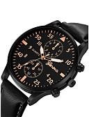 ราคาถูก นาฬิกาข้อมือสายหนัง-สำหรับผู้ชาย นาฬิกาข้อมือ สายการบิน นาฬิกาอิเล็กทรอนิกส์ (Quartz) ที่มีขนาดใหญ่ หนัง ดำ / ฟ้า / น้ำตาล โครโนกราฟ น่ารัก นาฬิกาใส่ลำลอง ระบบอนาล็อก กำไล แฟชั่น Aristo - สีเงิน / สีขาว Rose Gold