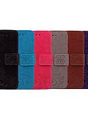 ราคาถูก เคสสำหรับ iPhone-Case สำหรับ Huawei Honor 6A Card Holder / Flip ตัวกระเป๋าเต็ม สีพื้น / ดอกไม้ Soft หนัง PU
