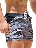 baratos Capinhas para iPhone-Homens Shorts de Natação Calção Justo de Natação Elastano Bermuda de Surf Respirável Secagem Rápida Com Cordão - Natação Mergulho Surfe camuflagem / Micro-Elástica