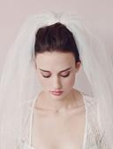 ราคาถูก ม่านสำหรับงานแต่งงาน-Two-tier สไตล์วินเทจ / รูปแบบคลาสสิก ผ้าคลุมหน้าชุดแต่งงาน ผ้าคลุมศรีษะสำหรับชุดแต่งงาน กับ ไม่มีลาย Tulle