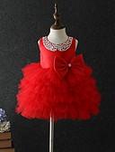 Χαμηλού Κόστους Βρεφικά φορέματα-Μωρό Κοριτσίστικα Βασικό Μονόχρωμο Αμάνικο Βαμβάκι Φόρεμα Λευκό / Νήπιο