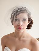 ราคาถูก ม่านสำหรับงานแต่งงาน-Two-tier สไตล์วินเทจ / รูปแบบคลาสสิก ผ้าคลุมหน้าชุดแต่งงาน Blusher Veils กับ ไม่มีลาย Tulle