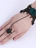 billige Quartz horlogesQuartz-Dame Ringarmbånd Utskjæring Blomst damer Vintage Gotisk Mote Blonde Armbånd Smykker Svart Til Jul Halloween Cosplay Kostumer