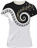 Χαμηλού Κόστους Ανδρικά μπλουζάκια και φανελάκια-Ανδρικά T-shirt Βασικό Συνδυασμός Χρωμάτων Στρογγυλή Λαιμόκοψη Λευκό / Κοντομάνικο