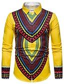 billige Herreskjorter-Skjorte Herre - Tribal Rød / Langermet