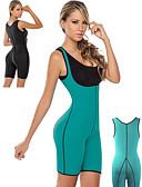 billige Våtdrakter, dykkerdrakter og våtskjorter-Treningskorsett Saunadrakt neopren Stretch Tummy Fat Burner Kalorier brent Trening & Fitness Bodybuilding Til Dame Waist & Back Bein Mage