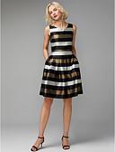 Χαμηλού Κόστους Φορέματα Ξεχωριστών Γεγονότων-Γραμμή Α Λαιμόκοψη V Μέχρι το γόνατο Πολυεστέρας / Βαμβάκι χαριτωμένο στυλ / Μπλοκ χρωμάτων Κοκτέιλ Πάρτι / Καλωσόρισμα Φόρεμα 2020 με Πλισέ