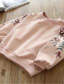 povoljno Majice s kapuljačama i trenirke za djevojčice-Djeca Djevojčice Osnovni Cvjetni print Dugih rukava Pamuk Trenirka s kapuljačom Bijela