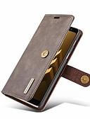 povoljno Maske za mobitele-Θήκη Za Samsung Galaxy A8 2018 Novčanik / Utor za kartice / sa stalkom Korice Jednobojni Tvrdo prava koža