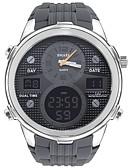ราคาถูก นาฬิกาสำหรับผู้ชาย-SMAEL สำหรับผู้ชาย นาฬิกาแนวสปอร์ต นาฬิกาดิจิตอล ญี่ปุ่น ดิจิตอล ยางทำจากซิลิคอน ดำ / เทา 50 m กันน้ำ ปฏิทิน โครโนกราฟ อะนาล็อก-ดิจิตอล ไม่เป็นทางการ แฟชั่น - สีดำ เงิน-เทา / นาฬิกาจับเวลา