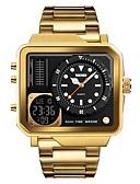 ราคาถูก นาฬิกาดิจิทัล-SKMEI สำหรับผู้ชาย นาฬิกาแนวสปอร์ต นาฬิกาทหาร นาฬิกาดิจิตอล ญี่ปุ่น ดิจิตอล สแตนเลส ดำ / เงิน / ทอง 30 m นาฬิกาปลุก ปฏิทิน โครโนกราฟ อะนาล็อก-ดิจิตอล ความหรูหรา แฟชั่น - สีเงิน สีทอง Rose Gold