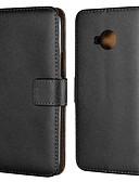 ราคาถูก เคสสำหรับ iPhone-Case สำหรับ โทรศัพท์ HTC HTC U11 plus / HTC U11 Life / HTC U11 Wallet / Card Holder / with Stand ตัวกระเป๋าเต็ม สีพื้น Hard หนังแท้