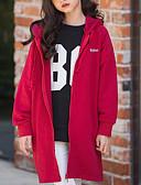 olcso Lány dzsekik és kabátok-Gyerekek Lány Alap Napi Egyszínű Kollázs Hosszú ujj Szokványos Pamut Ballon kabát Fekete
