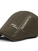 Χαμηλού Κόστους Men's Hats-Ανδρικά Στάμπα Βασικό Πολυεστέρας Μπερές Μαύρο Σκούρο γκρι Βαθυγάλαζο