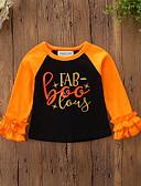 povoljno Majice za bebe-Dijete Djevojčice Vintage / Aktivan Dnevno / Praznik Print / Halloween Dugih rukava Regularna Majica s kratkim rukavima Crn / Dijete koje je tek prohodalo