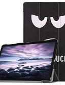 ราคาถูก เคสสำหรับโทรศัพท์มือถือ-Case สำหรับ Samsung Galaxy Tab A2 10.5(2018) Flip / Ultra-thin / Origami ตัวกระเป๋าเต็ม หอไอเฟล / นกฮูก / Dandelion Hard หนัง PU