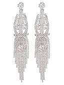 baratos Vestidos para as Mães dos Noivos-Mulheres Brincos Compridos Fashion Longas senhoras Fashion Brincos Jóias Prata / Arco-íris Para Presente Diário 1 par
