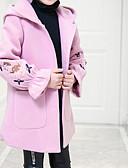 olcso Lány dzsekik és kabátok-Gyerekek Lány Alap Egyszínű Hosszú ujj Pamut Ballon kabát Rubin