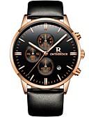 ราคาถูก ม่านสำหรับงานแต่งงาน-ontheedge สำหรับผู้ชาย นาฬิกาแนวสปอร์ต นาฬิกาข้อมือ ญี่ปุ่น นาฬิกาควอตซ์ญี่ปุ่น หนัง ดำ 30 m กันน้ำ ปฏิทิน เท่ห์ ระบบอนาล็อก ไม่เป็นทางการ แฟชั่น - Black / Silver Black / Rose Gold