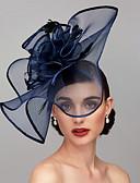 billige Hatter til damer-Fjær / Nett Kentucky Derby Hat / fascinators / Hodeplagg med Fjær / Blomster / Blomst 1pc Bryllup / Spesiell Leilighet Hodeplagg