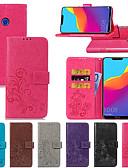 ราคาถูก เคสสำหรับ iPhone-Case สำหรับ Huawei Huawei Honor 10 / Honor 9 / Huawei Honor 9 Lite Wallet / Card Holder / with Stand ตัวกระเป๋าเต็ม สีพื้น / Mandala / Butterfly Hard หนัง PU