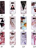 billige Vesker og deksler-Etui Til Samsung Galaxy Note 9 / Note 8 IMD / Mønster Bakdeksel Marmor Myk TPU