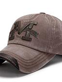 Χαμηλού Κόστους Men's Hats-Ανδρικά Στάμπα Βασικό Πολυεστέρας Τζόκεϊ Πράσινο Χακί Καφέ Βαθυγάλαζο