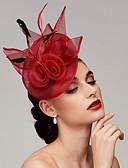 ราคาถูก เครื่องประดับผมผู้หญิง-ขนนก / สุทธิ Kentucky Derby Hat / fascinators / เครื่องประดับศรีษะ กับ ขนนก / ดอกไม้ 1pc งานแต่งงาน / โอกาสพิเศษ หูฟัง