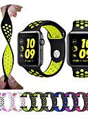 olcso Férfi pólók és atléták-Nézd Band mert Apple Watch sorozat 5/4/3/2/1 Apple Sportszíj Szilikon Csuklópánt