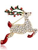 billige Etuier/deksel til Xiaomi-Dame Nåler Klassisk 3D Elk Dyr damer Klassisk Vintage Strass Gullbelagt Brosje Smykker Gull Til Jul Festival