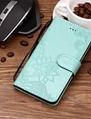 ราคาถูก เคสสำหรับ iPhone-Case สำหรับ Huawei Huawei Honor 10 / Honor 9 / Huawei Honor 9 Lite Card Holder / Embossed / Pattern ตัวกระเป๋าเต็ม ดอกไม้ Hard หนัง PU