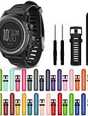 billige Smartwatch Bands-Klokkerem til Fenix 3 HR / Fenix 3 Sapphire / Fenix 3 Garmin Sportsrem Silikon Håndleddsrem