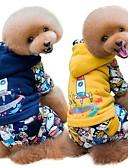 povoljno Vanjska odjeća za bebe-Psi Mačke Kaputi Odjeća za psa Jednobojni Bijela Plava Pamuk Kostim Za Mops (Pug) bišon friz Šnaucer Jesen Zima Uniseks Ležerno / za svaki dan Grijači
