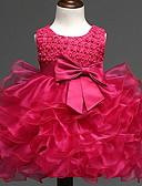 זול שמלות לתינוקות-שמלה כותנה ללא שרוולים אגס אחיד בסיסי בנות תִינוֹק / פעוטות