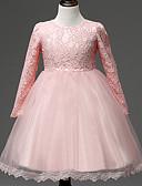 Χαμηλού Κόστους Βρεφικά φορέματα-Μωρό Κοριτσίστικα Βίντατζ Πάρτι / Γενέθλια Μονόχρωμο Μακρυμάνικο Ως το Γόνατο Βαμβάκι Φόρεμα Λευκό