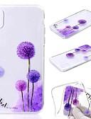 זול מגנים לאייפון-מגן עבור Apple iPhone XS / iPhone XR / iPhone XS Max שקוף / תבנית כיסוי אחורי שֵׁן הַאֲרִי / פרח רך TPU