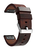 billiga Herrblazers och kostymer-Klockarmband för Fenix 5 / Fenix 5 Plus Garmin Läderloop Äkta Läder Handledsrem