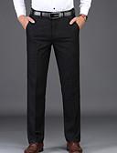 ราคาถูก กางเกงผู้ชาย-สำหรับผู้ชาย พื้นฐาน ทำงาน สูท กางเกง - สีพื้น สีดำ 34 36 38