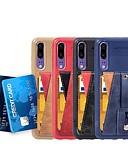 ราคาถูก กรณีอื่น ๆ-Case สำหรับ Huawei Huawei P20 / Huawei P20 Pro / Huawei P20 lite Card Holder / with Stand / ที่แขวนห่วง ปกหลัง สีพื้น Soft หนัง PU