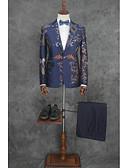 povoljno Odijela-Patterned Kroj po mjeri Pamuk / Poliester Odijelo - Uski Droit 1 bouton / odijela