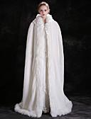 Χαμηλού Κόστους Πέπλα Γάμου-Αμάνικο Ψεύτικη Γούνα Γάμου / Πάρτι / Βράδυ Γυναικείες εσάρμπες Με Κορδόνια Κάπες