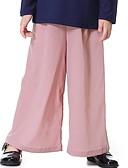 olcso Lány nadrágok és cicanadrágok-Gyerekek Lány Boho Napi Egyszínű Csokor Nadrágok Arcpír rózsaszín