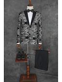 povoljno Odijela-Patterned Kroj po mjeri Poliester Odijelo - Maramasti ovratnik Droit 1 bouton / odijela
