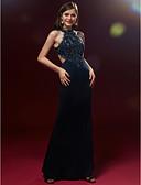 Χαμηλού Κόστους Φορέματα Χορού Αποφοίτησης-Βραδινή τουαλέτα Με Κόσμημα Μακρύ Δαντέλα / Σατέν Ανοικτή Πλάτη / Κομψό / Beaded & Sequin Κοκτέιλ Πάρτι / Χοροεσπερίδα / Επίσημο Βραδινό Φόρεμα 2020 με Χάντρες / Διακοσμητικά Επιράμματα / Πλισέ