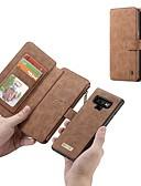 Χαμηλού Κόστους Αξεσουάρ Samsung-tok Για Samsung Galaxy Note 9 / Note 8 Πορτοφόλι / Θήκη καρτών / Ανθεκτική σε πτώσεις Πλήρης Θήκη Μονόχρωμο Σκληρή γνήσιο δέρμα