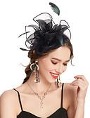 billiga Kvinnors hårtillbehör-Dam Kentucky Derby Vintage Elegant Tyg Kubisk Zirkoniumoxid Huvudbonad Bröllop Party - Enfärgad / Satäng / Alla årstider